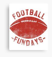 Football Fundays - Sunday Funday Vintage Shirt Canvas Print