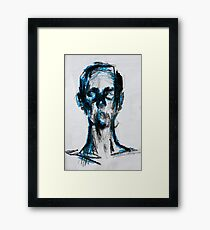 Blue man Framed Print