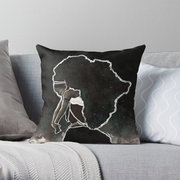 Africa Thinking Throw Pillow