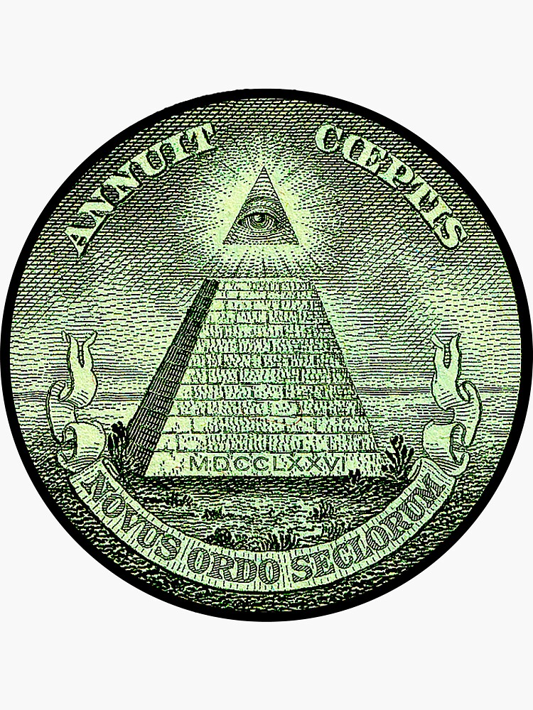 Eye of Providence, America, USA, Mystic, Dollar, Bill, Money, Freemasonry, All Seeing Eye, Pyramid, Masonic von TOMSREDBUBBLE