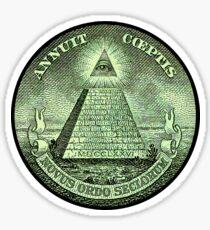 Eye of Providence, America, USA, Mystic, Dollar, Bill, Money, Freemasonry, All Seeing Eye, Pyramid, Masonic Sticker