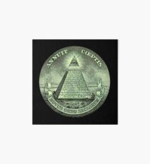 Eye of Providence, America, USA, Mystic, Dollar, Bill, Money, Freemasonry, All Seeing Eye, Pyramid, Masonic Art Board