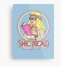 She-Read Metal Print