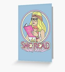 She-Read Greeting Card