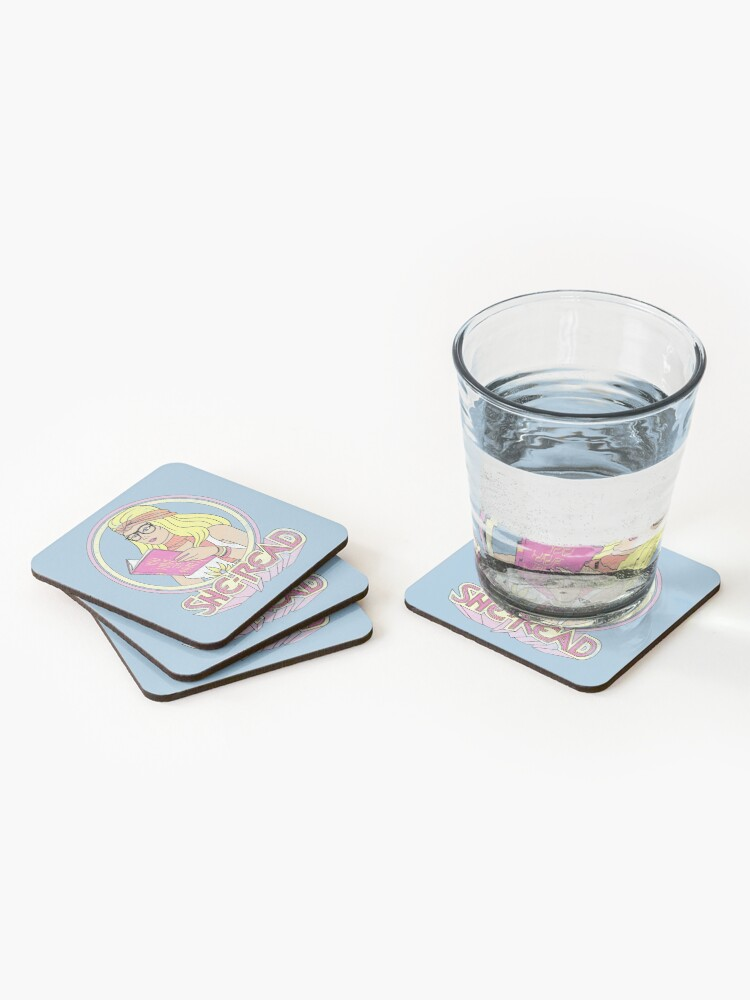 Alternate view of She-Read Coasters (Set of 4)