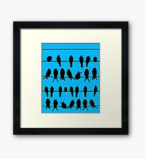 More Birds on Wires Framed Print