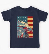 Camiseta para niños American Patriotic Eagle Bald