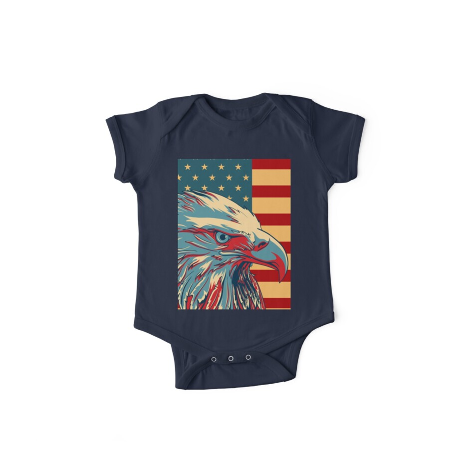 Amerikanischer patriotischer Adler kahl von CroDesign
