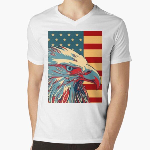 AMERICAN WARRIOR EAGLE T-SHIRT ~ Patriotic War Bird Tee ~ USA Pride