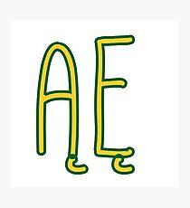 ĄĘ  - Polish alphabet Photographic Print
