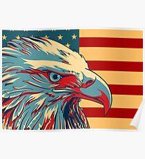 Amerikanischer patriotischer Adler kahl Poster
