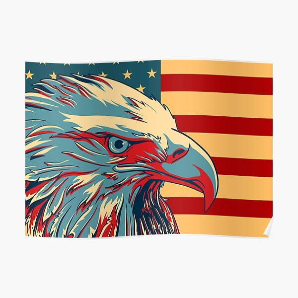 US SELLER-American eagle patriotic patriotism art poster wall posters for home