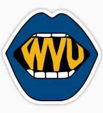 WVU Lips Sticker