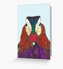 Mandarin duck portrait Greeting Card