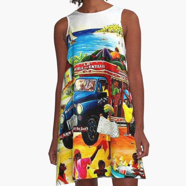 HAITI : Vintage Travel and Tourism Advertising Print A-Line Dress