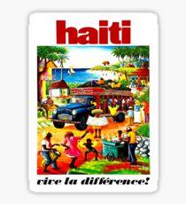 HAITI : Vintage Travel and Tourism Advertising Print Sticker