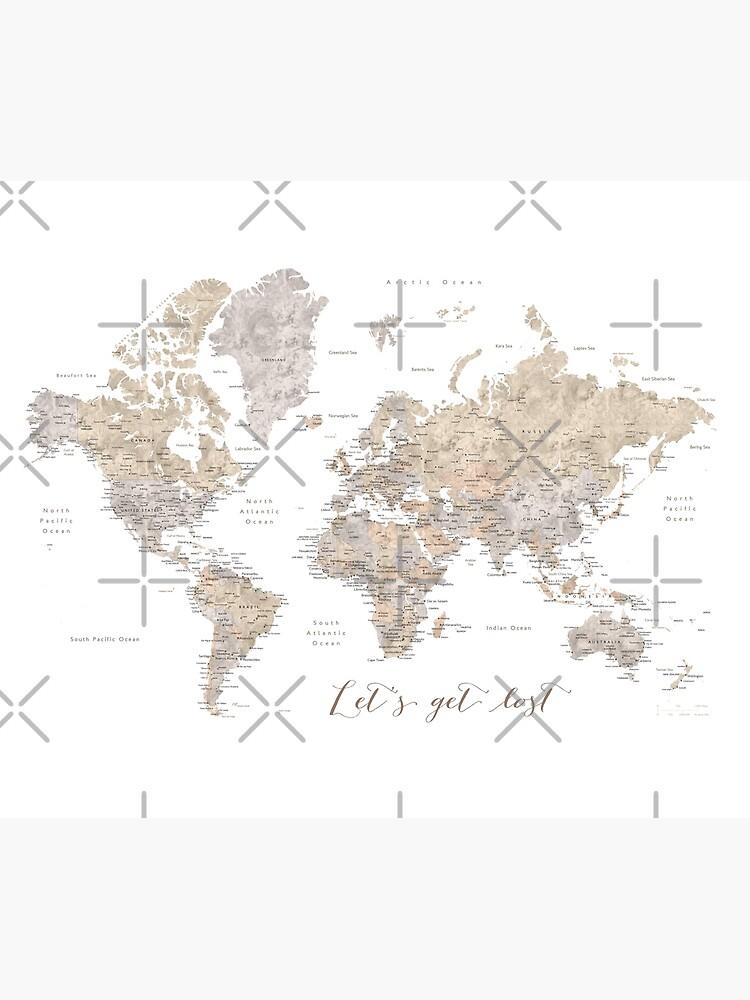 Lassen Sie uns detaillierte Weltkarte verloren gehen von blursbyai
