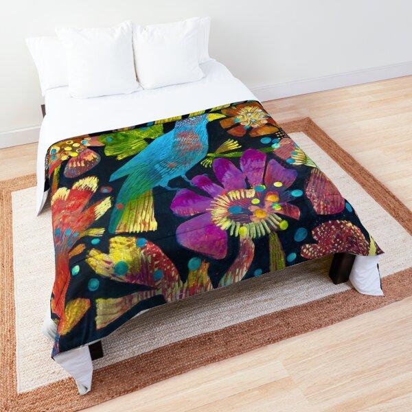 Tropical bird Comforter