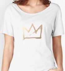 GOLD BASQUIAT CROWN Women's Relaxed Fit T-Shirt