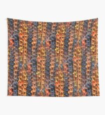 Crochet Cloudberry Blue and Orange Wall Tapestry