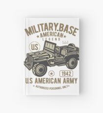 Army Jeep Hardcover Journal