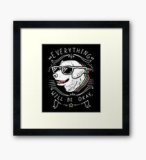 Dog Shirt Framed Print