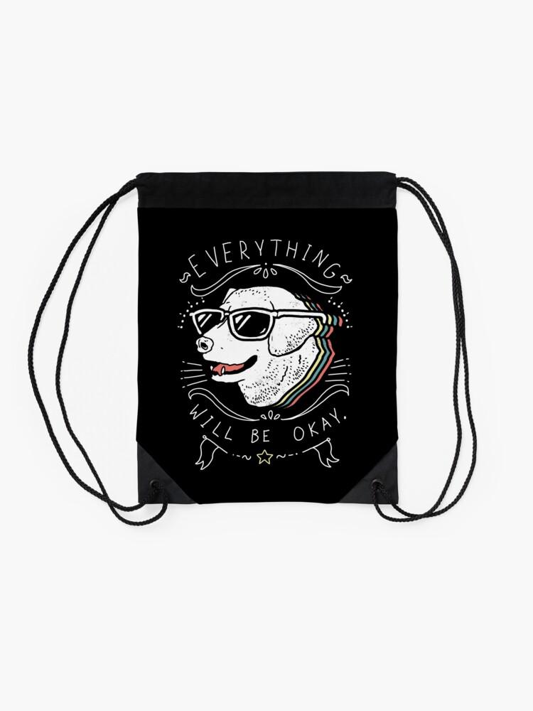 Alternate view of Dog Shirt Drawstring Bag