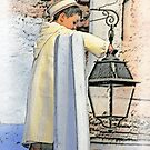 A boy and a lamp by Peter Hammer