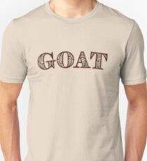 GOAT - Greatest Of All Time - Text Version T-Shirt