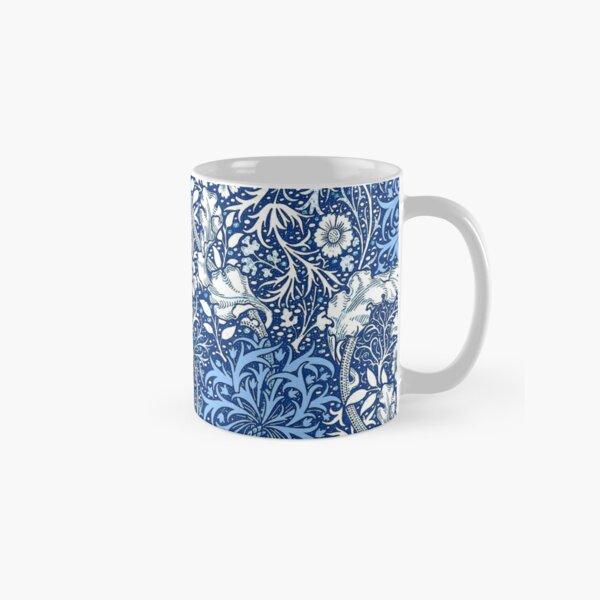 Art Nouveau Seaweed Floral, Cobalt Blue  Classic Mug