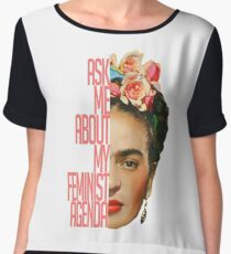 Ask me about my feminist agenda Chiffon Top