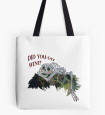 The Last Unicorn Skeleton - Did you Say Wine? Tote Bag