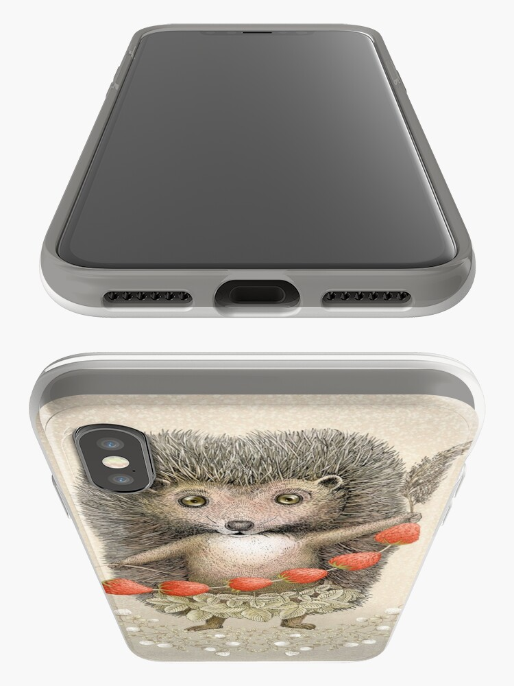 Alternate view of Animal Hedgehog Strawberry iPhone Case & Cover