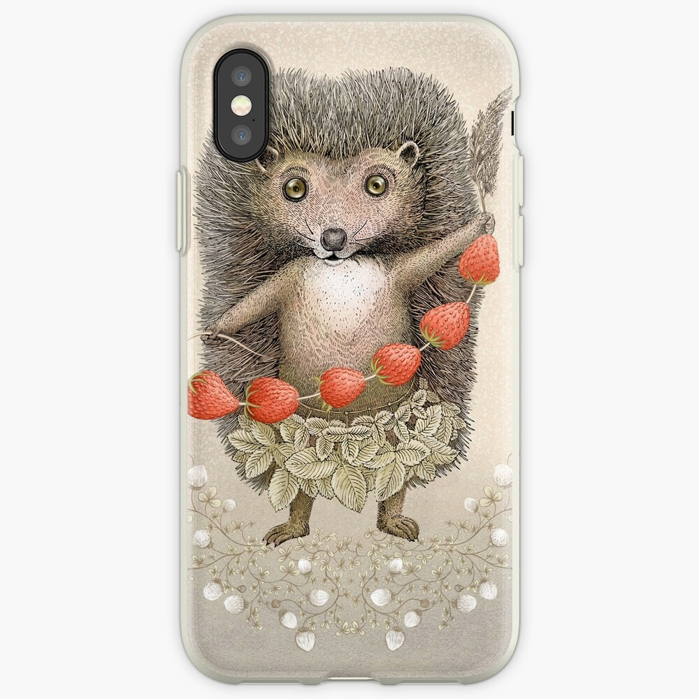 Animal Hedgehog Strawberry iPhone Case & Cover