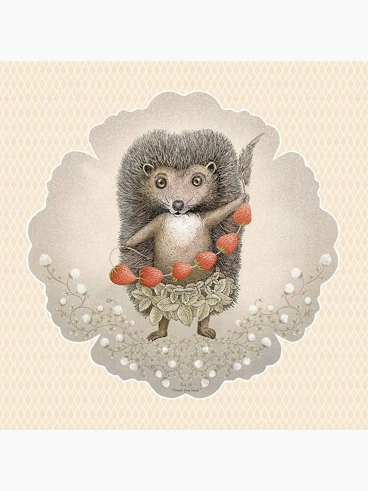 Animal Hedgehog Strawberry by Ruta