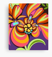 Colourful floral fantasy Canvas Print