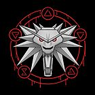 Witcher White Wolf Signs Medallion by Beka Designs