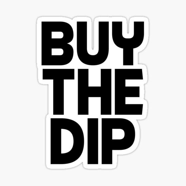 Acheter le Dip Crypto Cryptocurrency Idée cadeau Texte noir Sticker