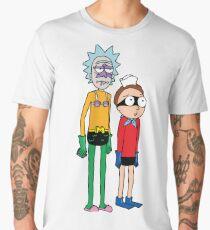 Mermaid Rick and Barnacle Morty Men's Premium T-Shirt