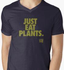 Just Eat Plants. Men's V-Neck T-Shirt