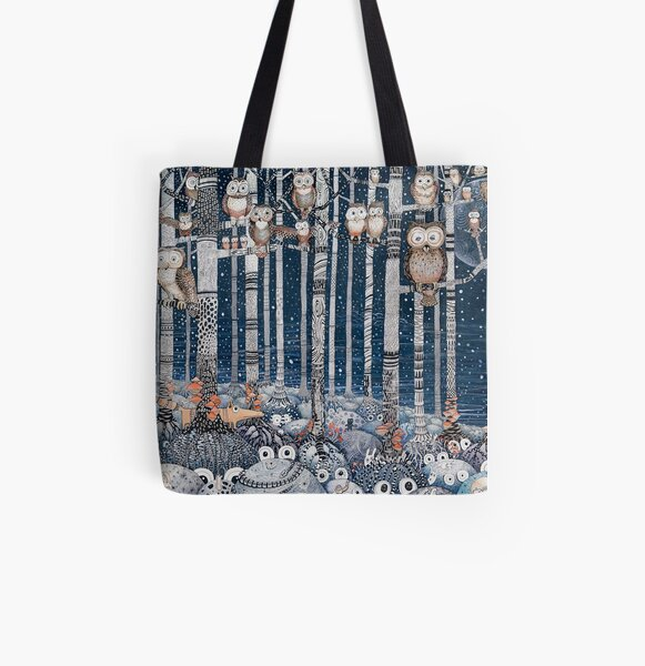 Owl Forest All Over Print Tote Bag