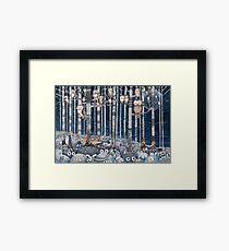 Owl Forest Framed Print