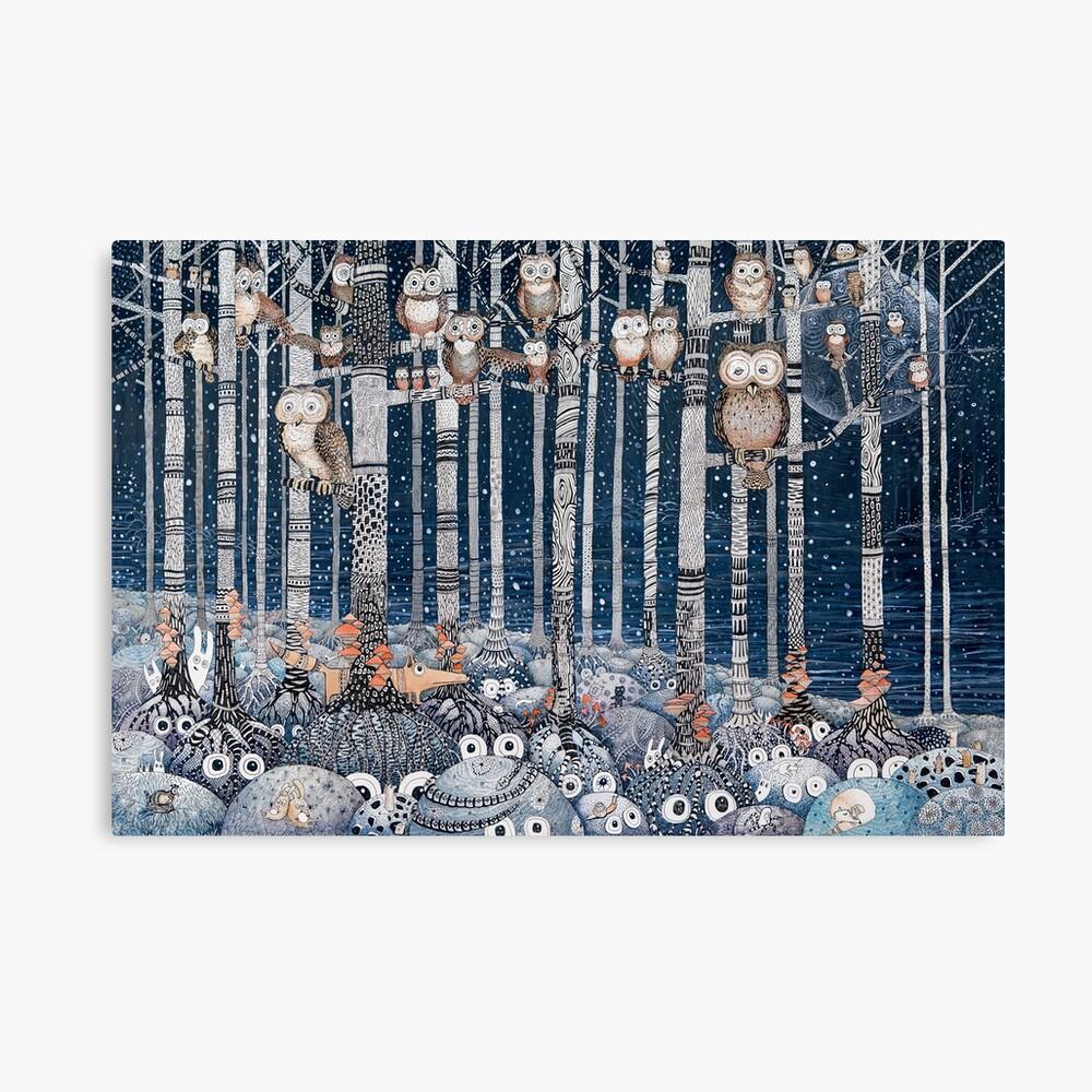 Owl Forest Lienzo