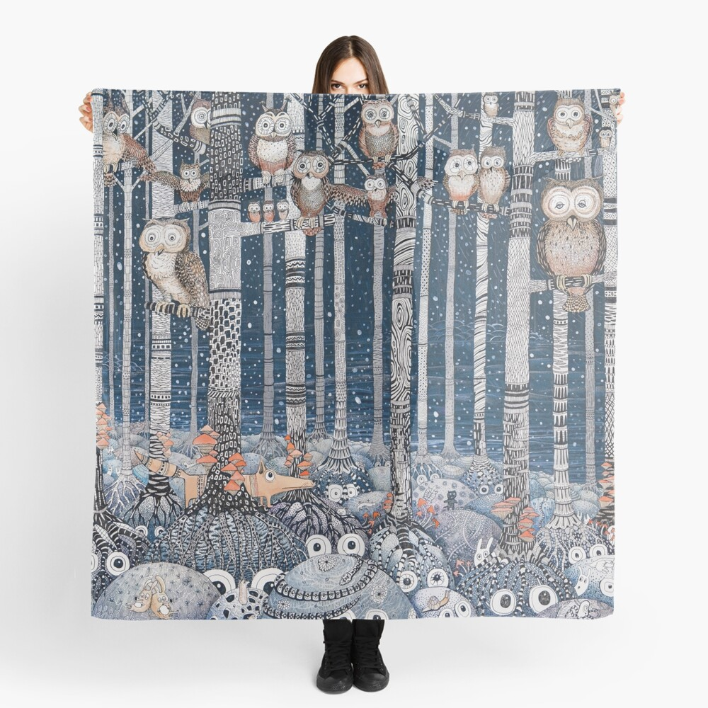 Owl Forest Scarf