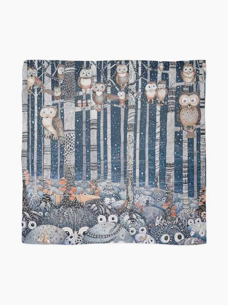 Alternate view of Owl Forest Scarf