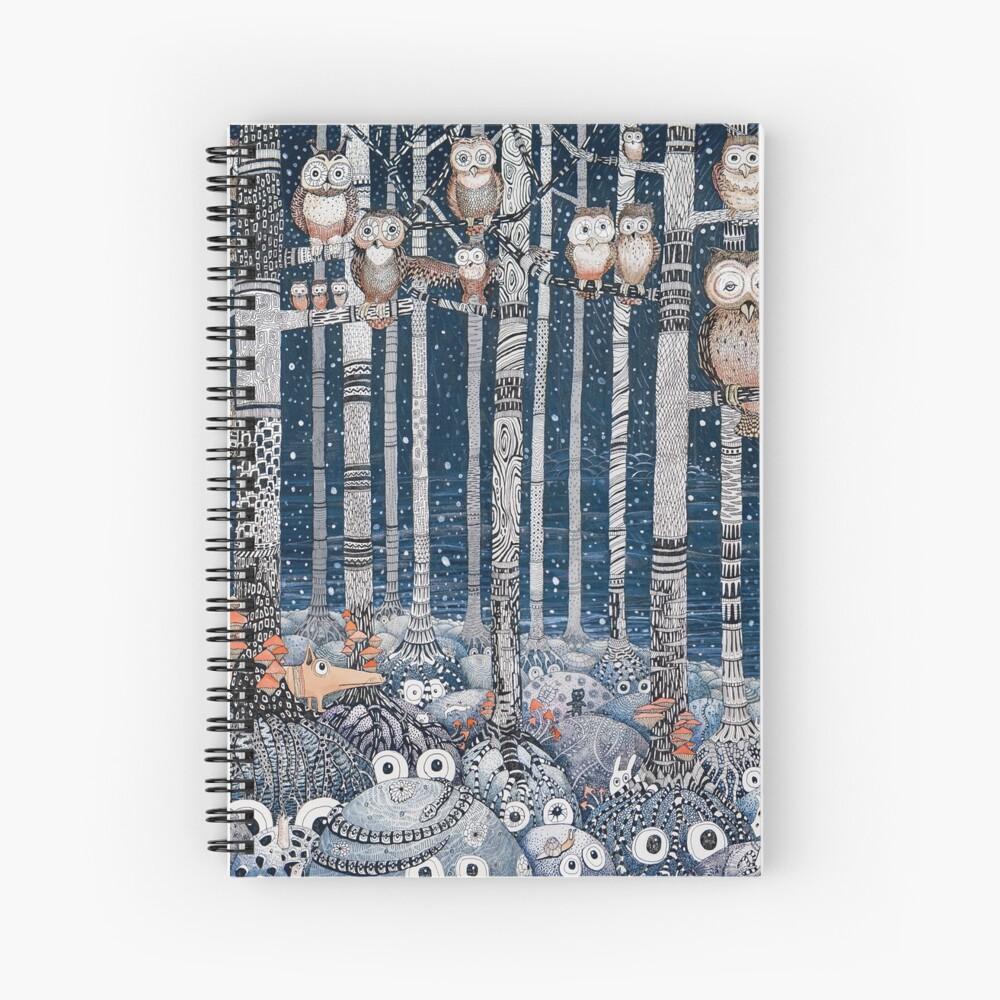 Owl Forest Cuaderno de espiral