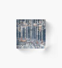 Owl Forest Acrylic Block