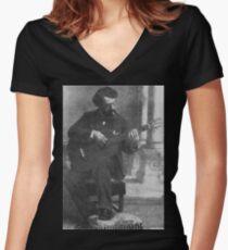 Francisco Tárrega - Brilliant Guitarist and Composer Women's Fitted V-Neck T-Shirt