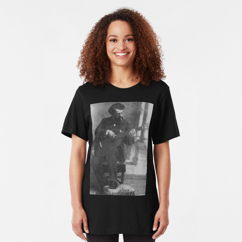 Francisco Tárrega - Brilliant Guitarist and Composer Slim Fit T-Shirt