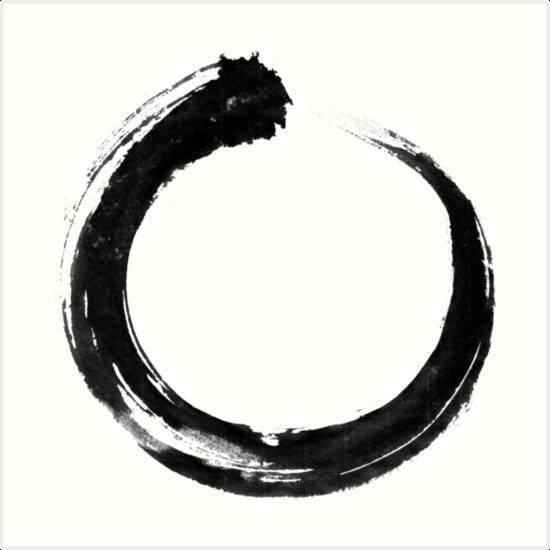 """Japanese Circle, Enso, Sumi Brush, Eternity"" Art Prints"